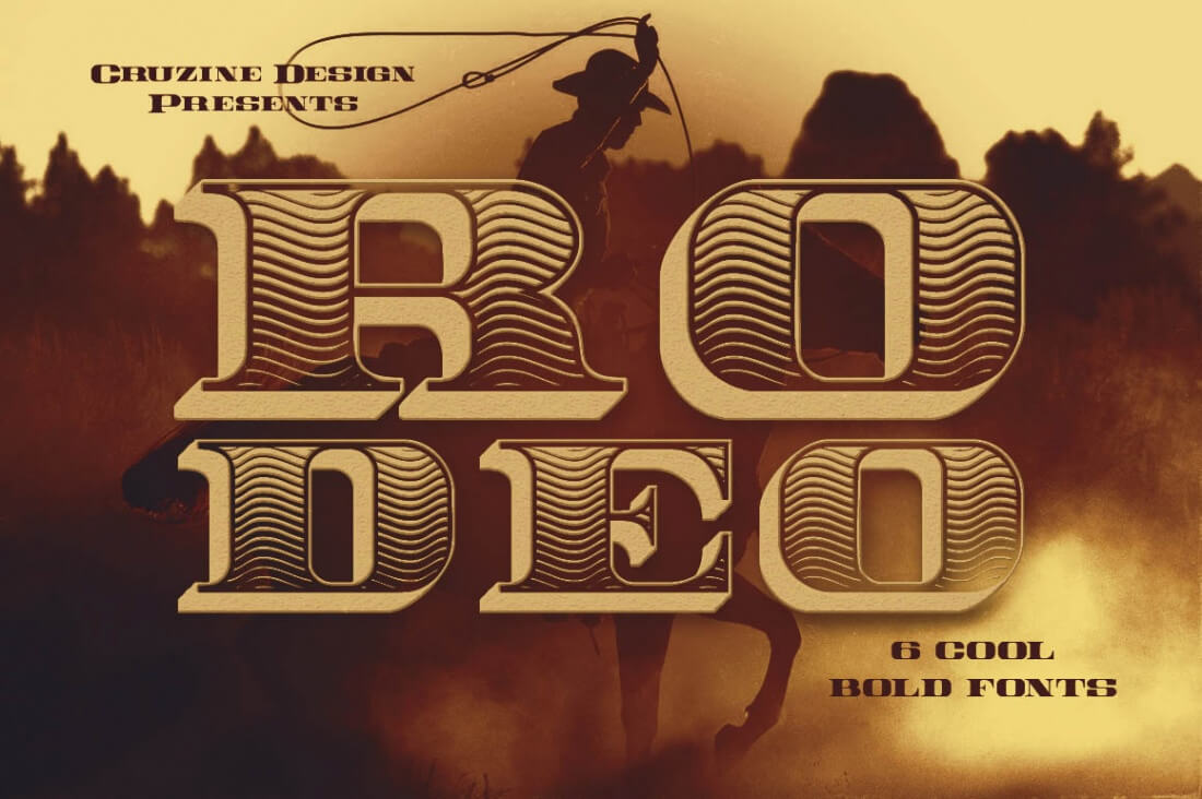 Mega Font Bundle Of 32 Vintage Grunge Families Only 29 Rodeo Bundling 3 Maroon M Pricing