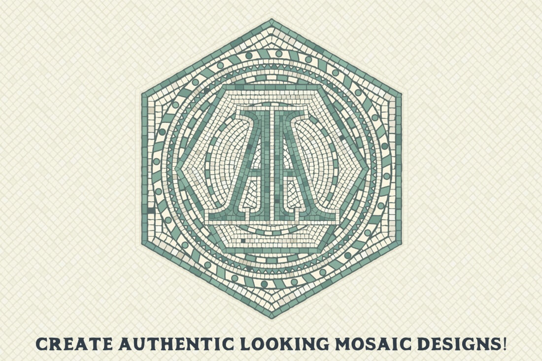 Mosaic Maker Toolkit Brushes & Patterns - only $9! - MightyDeals
