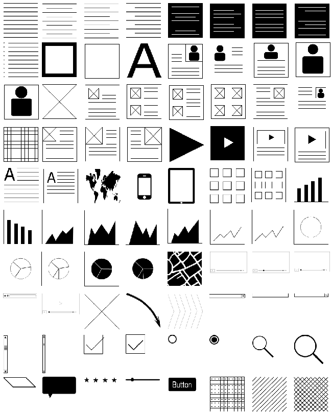Photoshop Wireframing Kit & 180+ Wireframing Icons - only $9 ...