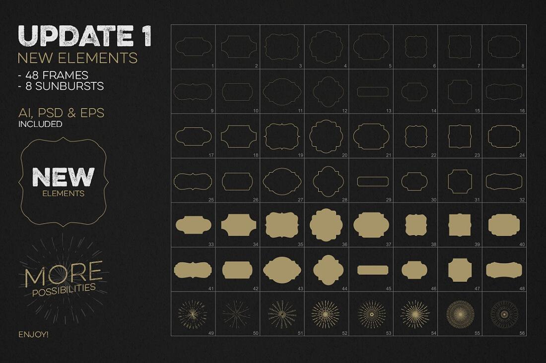 Professional Logo Creation Kit Bundle With 500 Elements