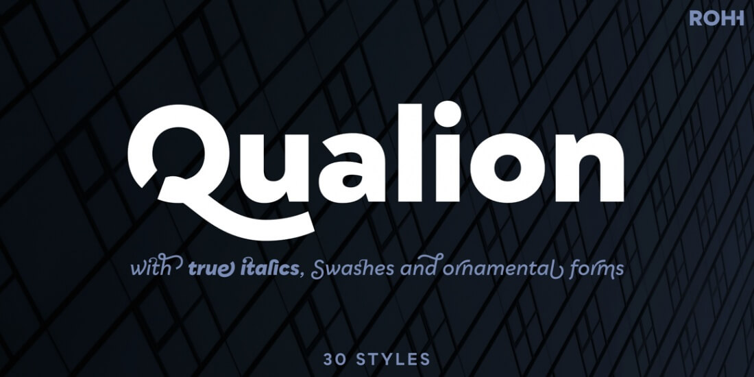 LAST CHANCE: Qualion Font Family of 30 Modern Typefaces