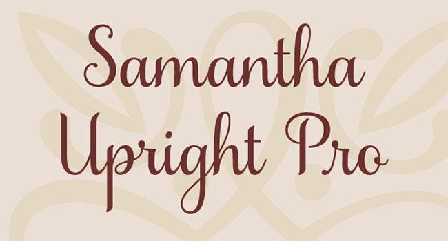 Beautiful Samantha Script Font