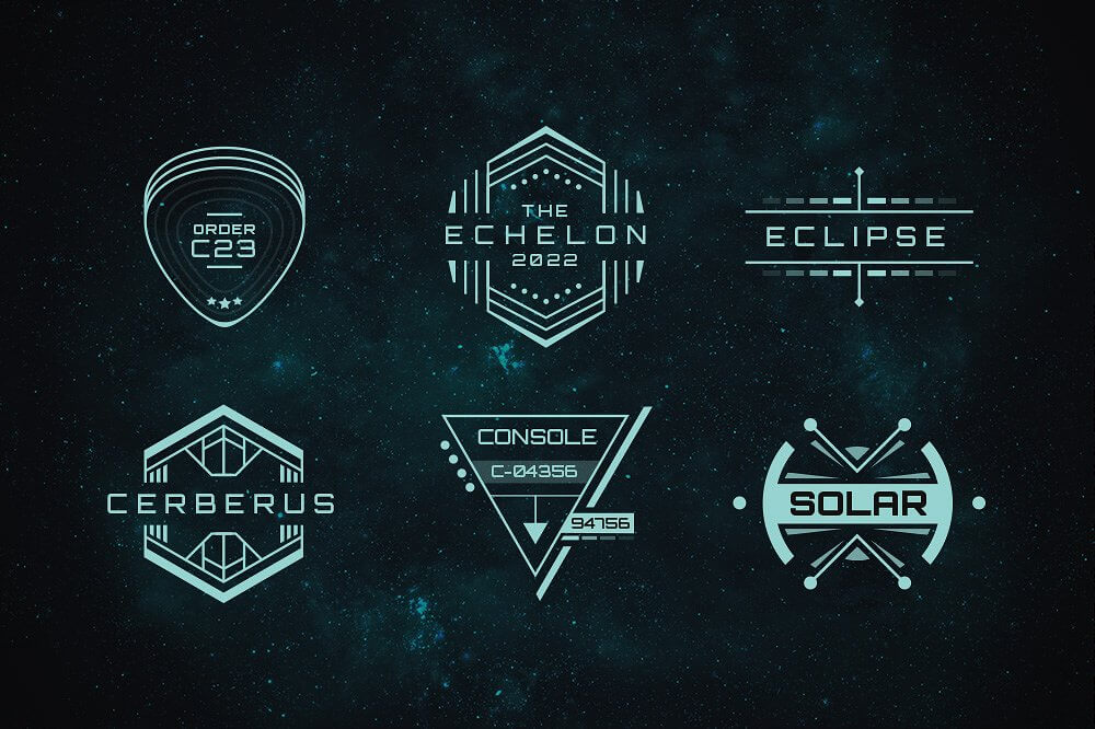 Sci-Fi Bundle: Space Fonts, Backgrounds, Logos, UI Kit - only $17 ...