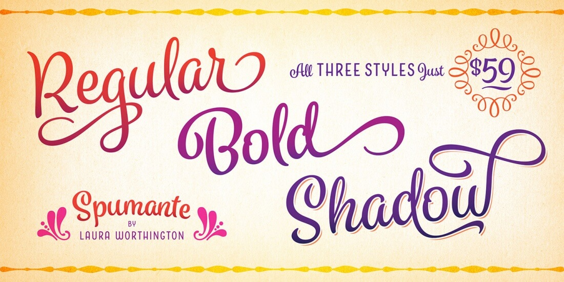 Take Advantage Of Loads Of OpenType Features Such As: Contextual  Alternates, Ornaments, Tilting Ornaments And More.