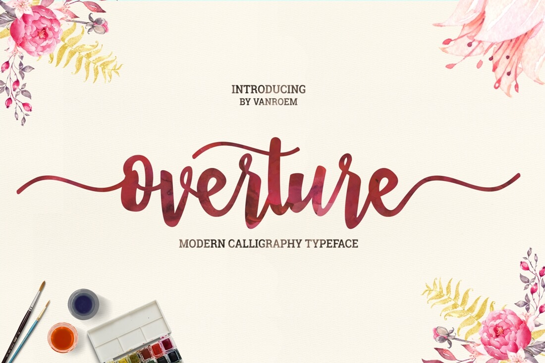 Beautiful handwritten modern script fonts only