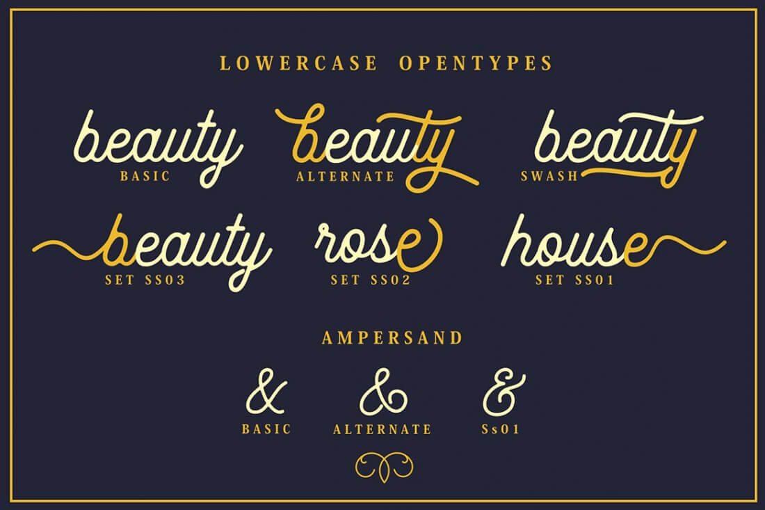The Beauty Vintage Script with Bonus Ornaments - only $7