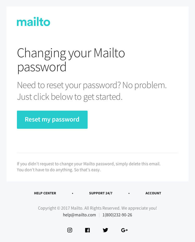 password change email template - bundle of 12 stunning professional transactional email