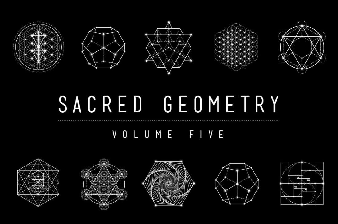 Ultimate Sacred Geometry Bundle of 50+ Customizable Vectors - only