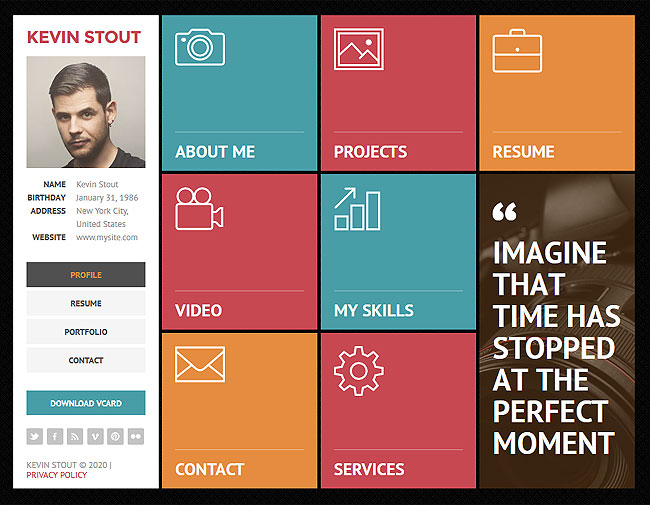 Last Day 12 Personal Vcard Html5 Templates From Flashmint Only