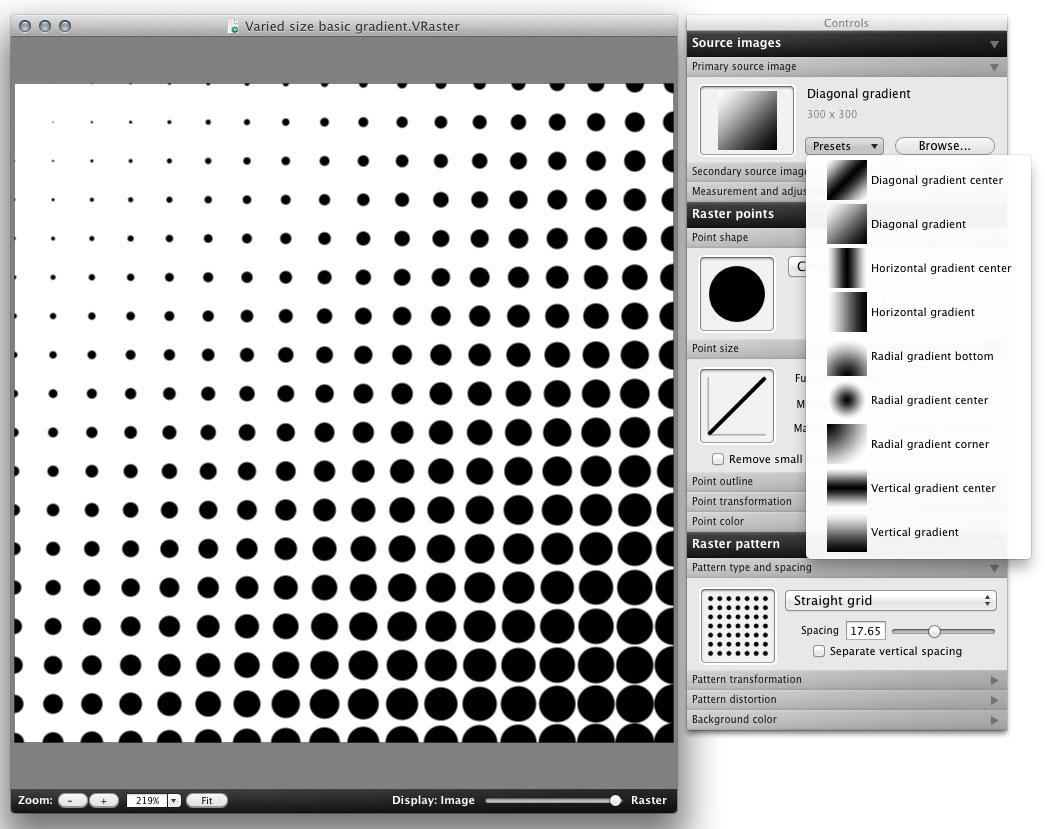 Create Vector Based Raster Patterns For Mac Os X Only