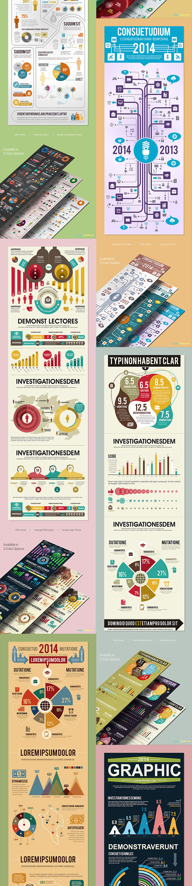 mega bundle of 105 incredible infographic templates only 27