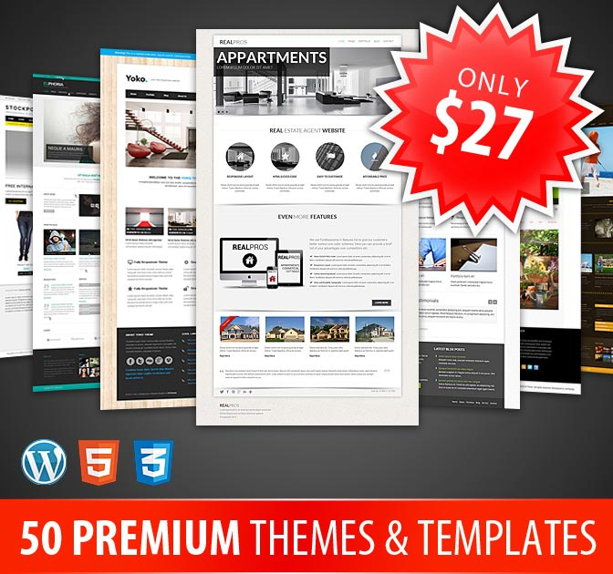DXThemes - 50+ WP Themes and Responsive Templates - only $27!