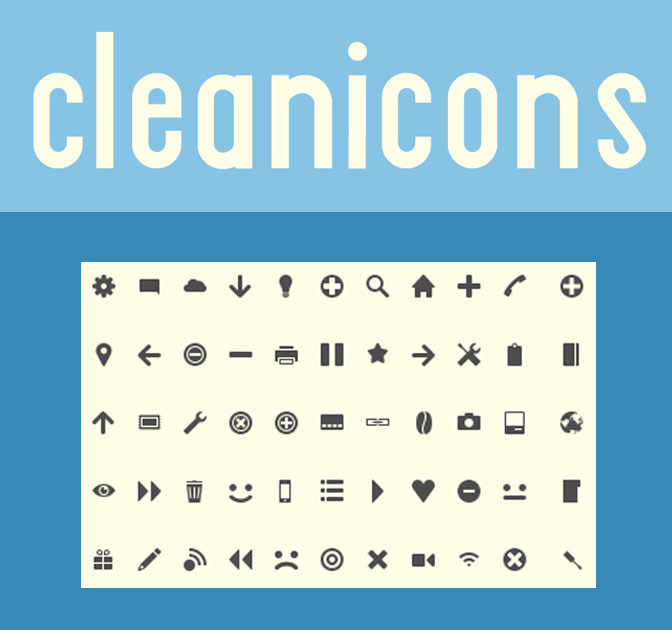 cleanicons 50 high quality minimal icons only 5 mightydeals