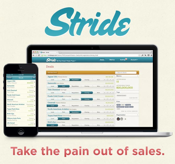 stride a simple sales tracking app only 25 mightydeals