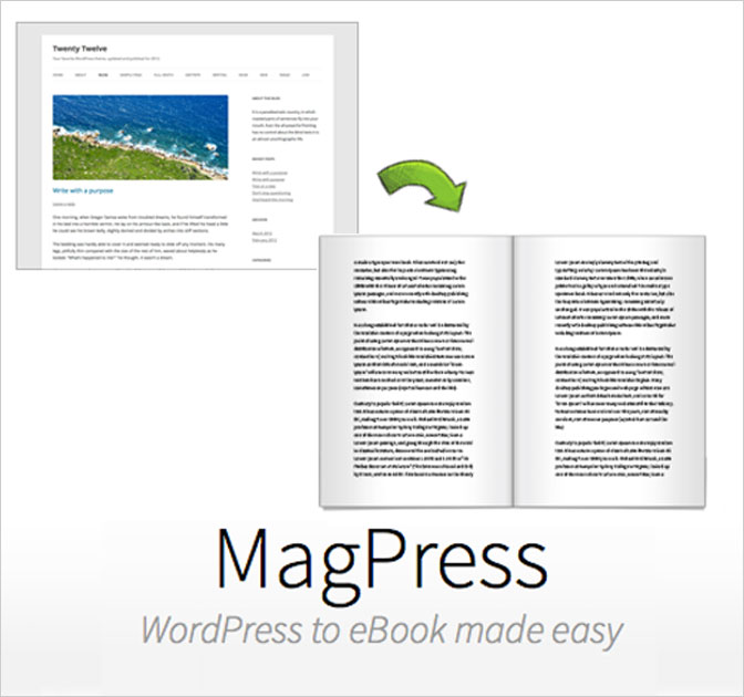 LAST DAY: MagPress Plugin - Convert any WP Blog to an eBook - only $24!