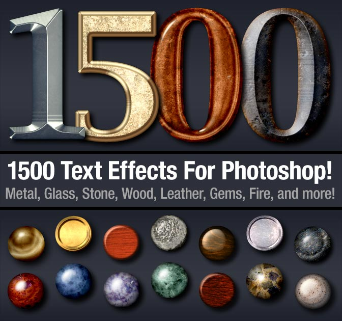 LAST DAY: 1,500+ John Forsythe's Professional Photoshop Text