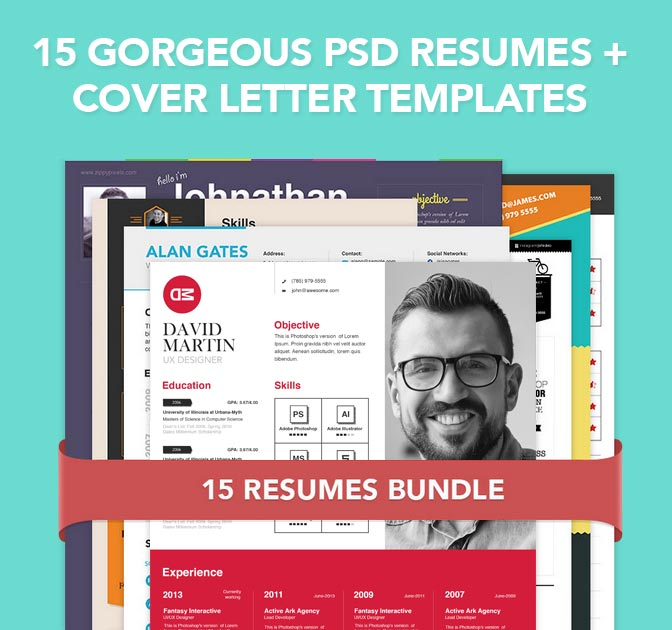 15 Unique Résumé And Cover Letter Templates   Only $19!  Unique Cover Letters