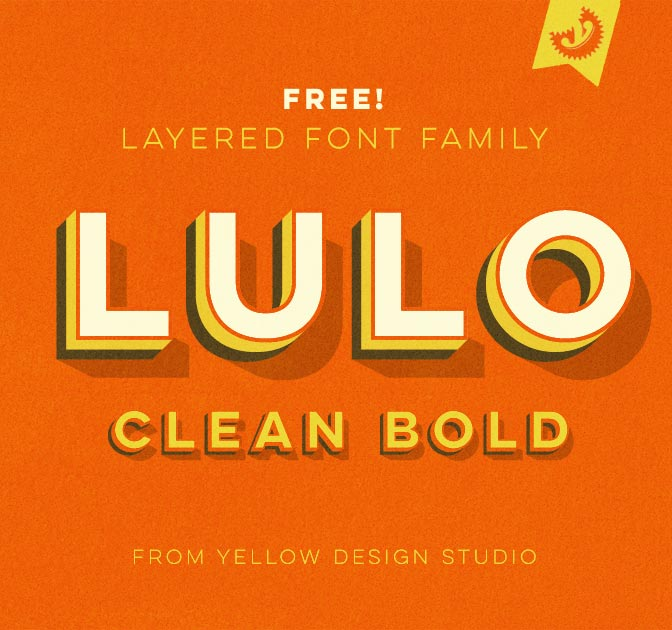 FREE FONT: Lulo Clean Bold from Yellow Design Studio