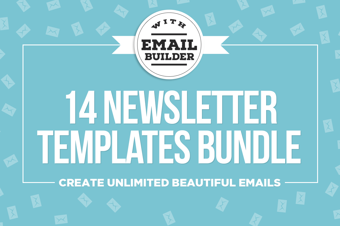 Bundle of 14 Email Newsletter Templates, MailChimp Compatible - only ...