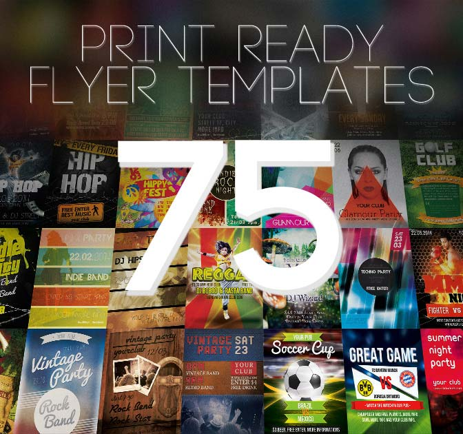 Bundle Of 75 Amazing Print Ready Flyer Templates 19 Mightydeals