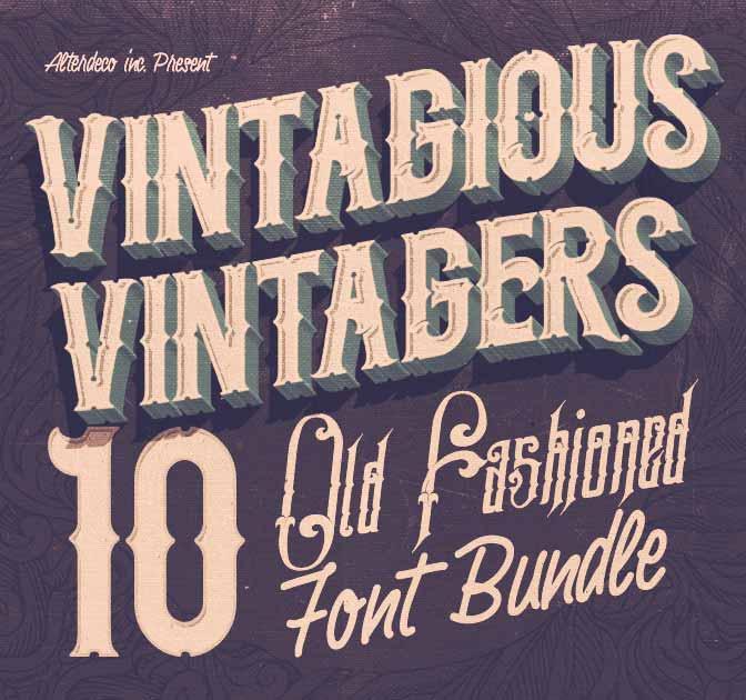 10 Fantastic High Quality Old Fashioned Vintage Fonts