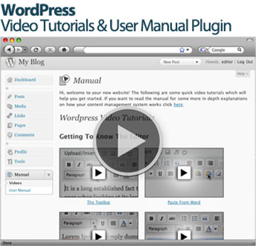 WordPress Video Tutorial Plugin only $36 for 3 months