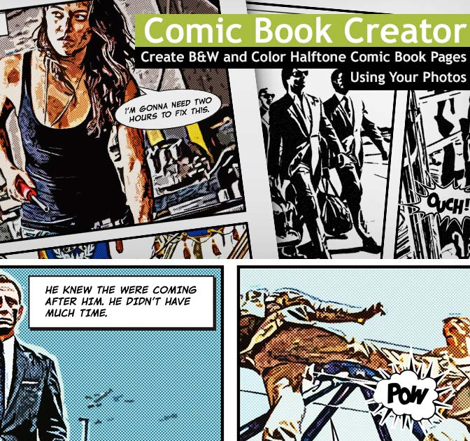 Comic Book Creator Is Great Way To Create Pages Using Your Own Photos Just Open The Template File In Photoshop Select Frame Layout Of