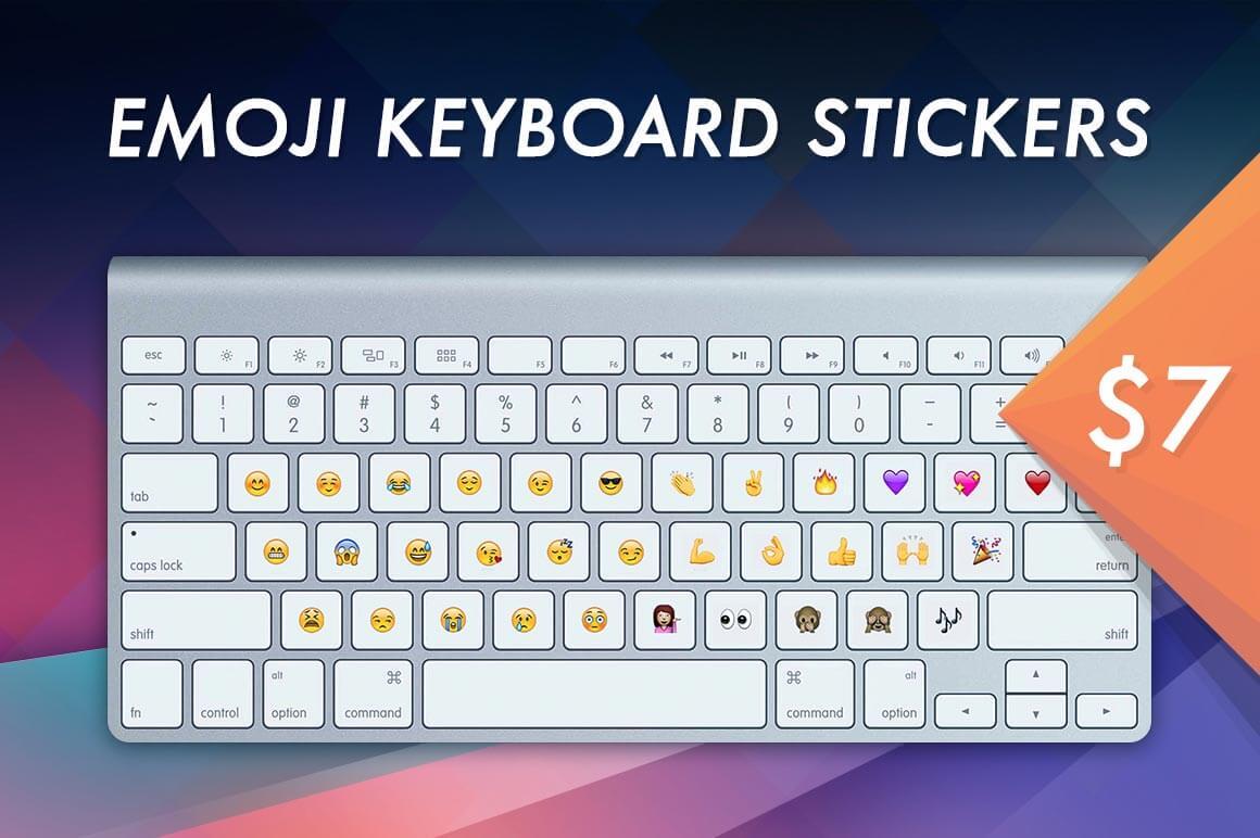 Emoji Keyboard Stickers Set for Desktop and Laptop - only $7!
