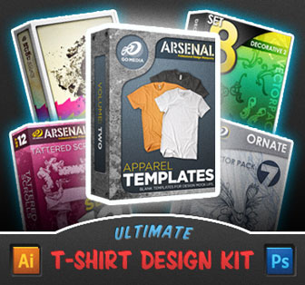 Ultimate TShirt Design Kit From Go Medias Arsenal MightyDeals - T shirt design template software