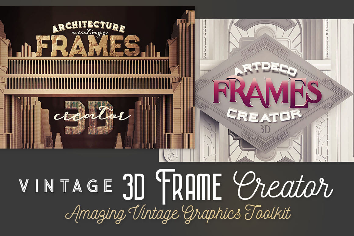 Vintage 3d Frame Creator Only 12 Mightydeals