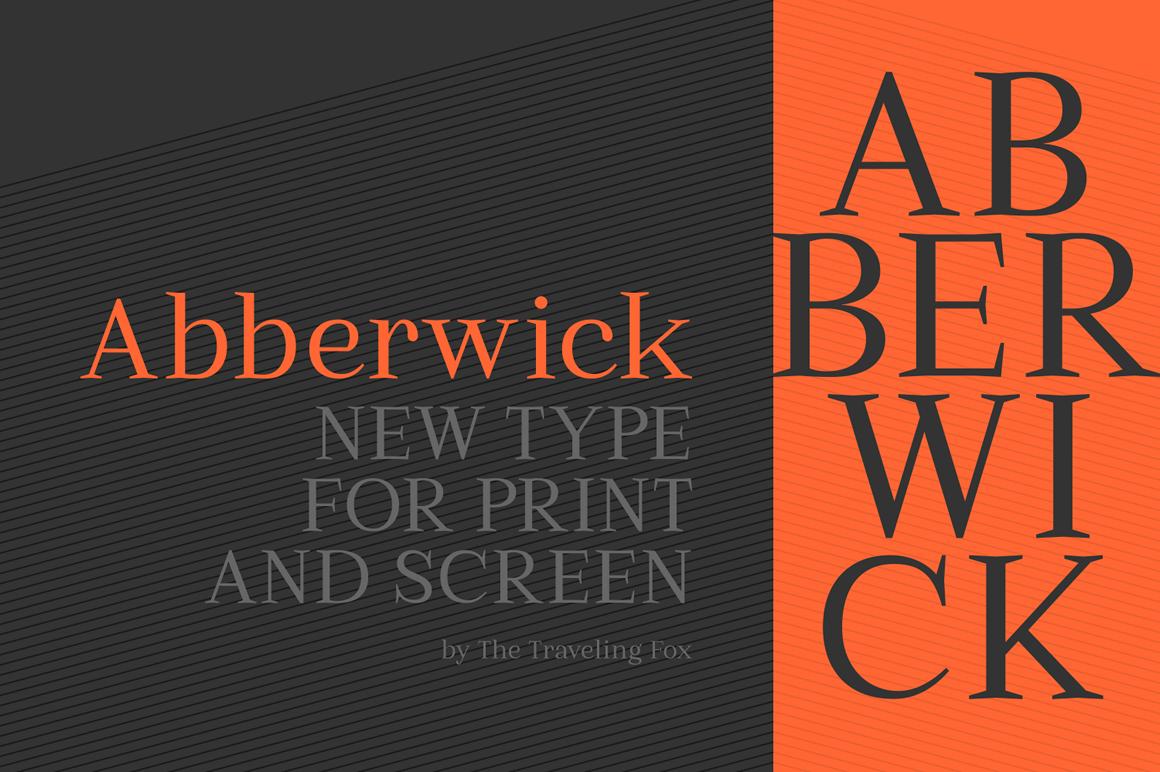 Classically Beautiful Serif, Abberwick - only $5! - MightyDeals