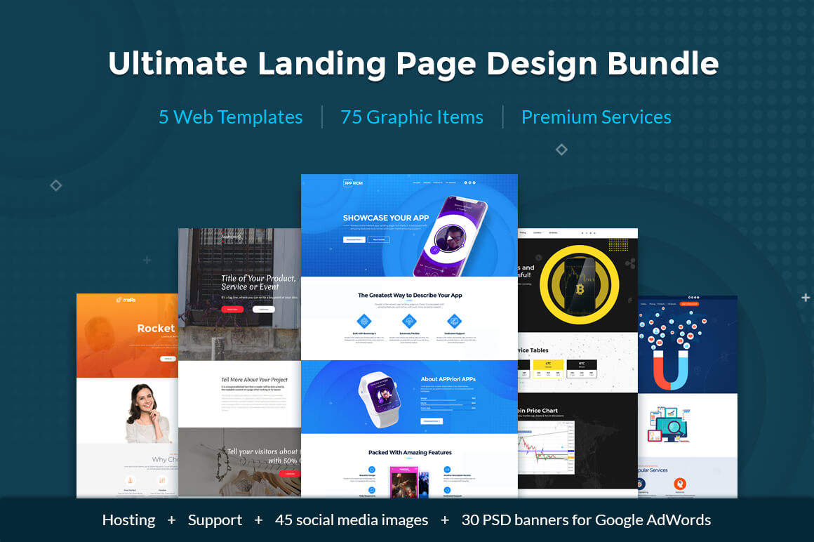 Simple Landing Page Web Design Bundle From Motocms Only