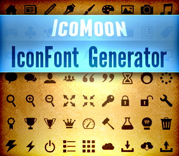 Icon Font Generator + 350 Vector Icons! - only $15! - MightyDeals