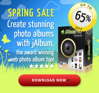 Awesome Online Photo Albums with jAlbum - only $12