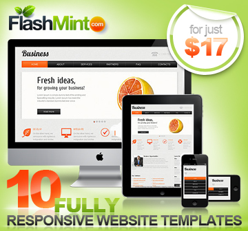 Responsive Website Templates deal - MightyDeals