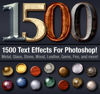 Download 1500 Photoshop Text Effects For Only $19 - Photoshop Resources Lorelei Web Design