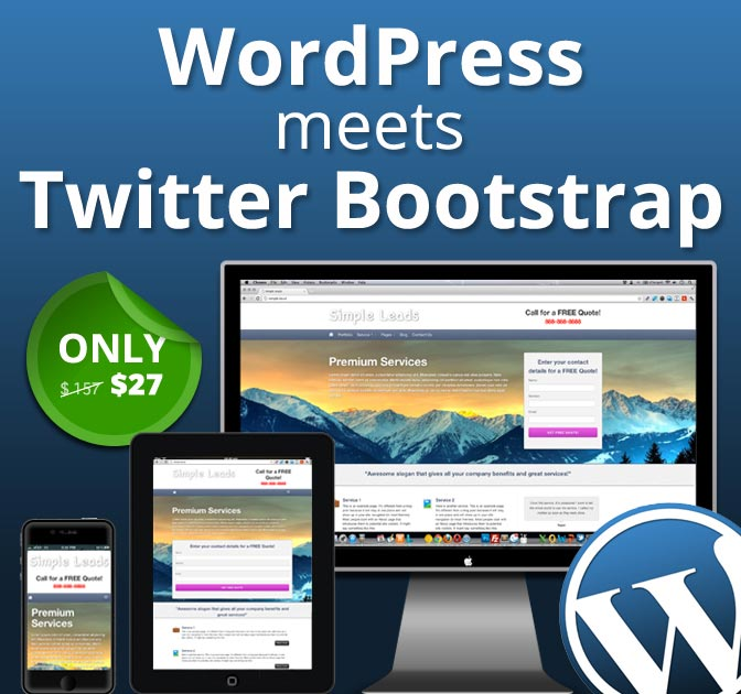 5 Responsive Twitter Bootstrap WordPress Themes - only $27 ...