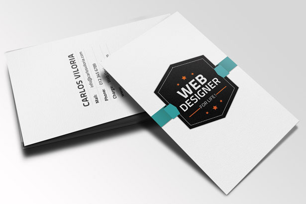 Free Retro Business Card PSD MightyDeals